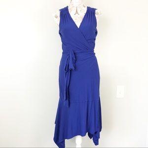 Athleta royal blue windward wrap dress size M